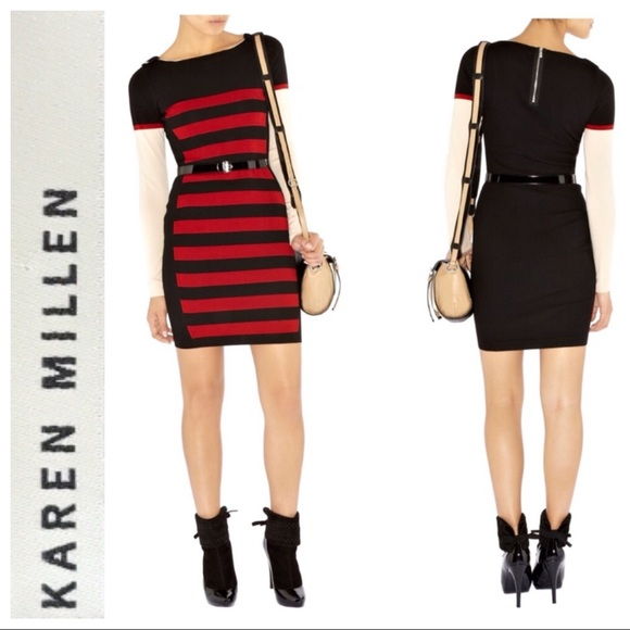 cd5cde16bfef4 Karen Millen Dresses   Block Stripe Knit Dress   Poshmark